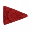 Imt. Cinnabar 21x28mm Triangle Fancy Pendant Red